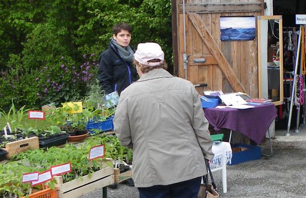 Markttag_Michaela_zwischen Pflanzen und Büchern