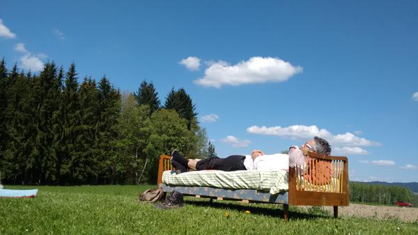 Ein Bett für Franz in der Wiese